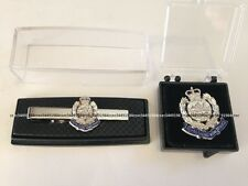 Royal Hong Kong Police Force Zinc Alloy 3D Badge Silver Pin & RHKP tieclip, NWB