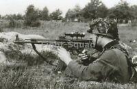 WW2 Picture Photo Soldier Firing Sturmgewehr 44 3425