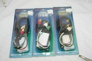 5 RCA MOLDED MALES TO 6 PIN FEMALE MINI DIN ADAPTER
