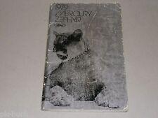 Betriebsanleitung Owner's Manual Handbook Ford 1979 Mercury Zephyr
