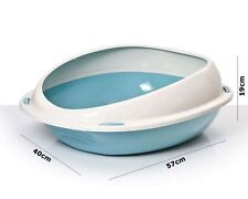 Cat Large or Jumbo Litter Tray With Rim or Scoop Toilet Pan Box 4 Colours X L