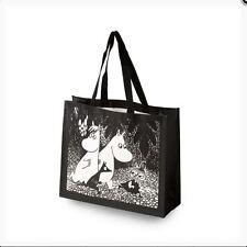 Dark-White SHOPPING BAG NEW Moomin in the woods