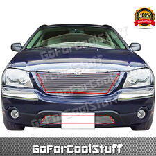 For Chrysler 04-06 Pacifica Upper Replacement+Bumper Billet Grille Combo
