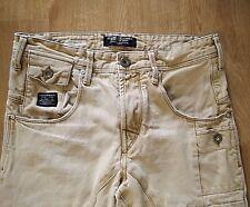 Jack & Jones Core Workwear Mens Stan Anti Fit Beige Jeans Actual Size 29 x 29