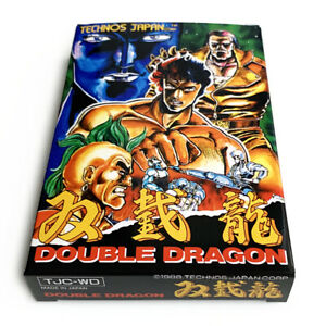 DOUBLE DRAGON - Empty box replacement spare case Famicom game Technos with tray