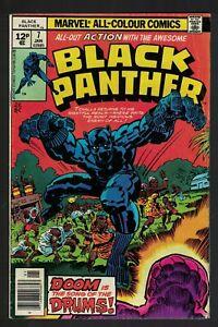 Marvel comics 7 black panther 6.5 FN+  1977 1st print