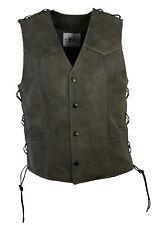 Western-speicher Men's Leather Biker Vest Vest Antique Braun Size 5XL