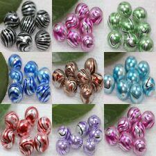 1050pcs lampwork water ripple crystal glass round loose spacer beads 12mm diy