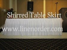 """13 ft Shirred Table Skirt 29"""" Height ,table skirts,custom skirts,personalized"""