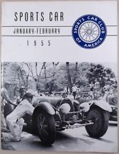Sports Car Club of America Jan-Feb 1955 SCCA Races Grand Prix Rally Hill Climb