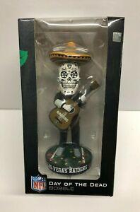 Las Vegas Raiders DAY OF THE DEAD Playing Guitar Bobble Bobblehead