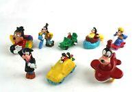 Vintage Lot of 8 Goofy Toy Figures Disney Stores McDonald's Burger King