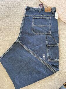 U. S. Polo Assn Mens Big & Tall Carpenter Jeans 58 X 34 NWT Dark Denim Dunga