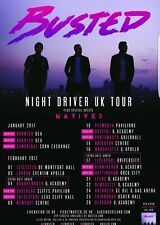 BUSTED TOUR POSTER 1 - A3 SIZE 297x420mm - FAST SHIPPING FROM UK