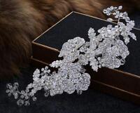 Floral Wedding Hair Vine Crystal Bridal Dress Accessories Rhinestone Headband