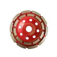 Diamond Segment Grinding Cup Wheel Disc Double Row Stone Brick Grinder 3Size