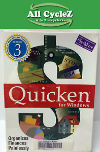 """Intuit Quicken Version 3.0 for Windows 3.5"""" HD Disk Formatted NEW"""