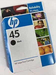 Genuine HP 45 (51645A#140) Black Ink Cartridge Dated 2009 New Sealed