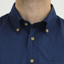 Camicia uomo S Marlboro Classics MCS cotone con taschino blu 4472