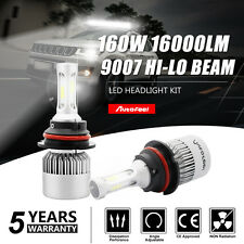 16000LM PHILIPS 160W LED Headlight Kit HB5 9007 High Low Beam Combo Bulbs 6000K