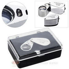 Jewelers Loupe 20X Magnifier 18mm Glass Lens Magnifying Illuminated Lighted LED