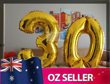 "Gold Foil Helium number balloon - 30th Brithday Party 40"" inch / 100cm AUS STOCK"