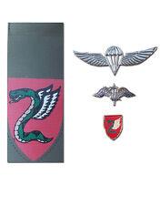 Israeli Army military IDF Paratroopers' Parachute Brigade Symbols pins Tag wings