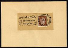 █ Allemagne DR n° 706 Y&T Flamme STUTTGART du 5/9/42 Mi 782 Hitler 3p █