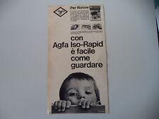 advertising Pubblicità 1965 AGFA ISO-RAPID