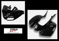 NEW KAWASAKI KFX 700 PLASTIC BLACK FRONT AND REAR FENDER SET PLASTICS