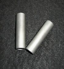 """LOT OF TWO - 2.0"""" LONG HEXOLOY SILICON CARBIDE TUBE WIRELESS ELEMENT No. 62"""