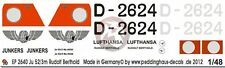 "Peddinghaus 1/48 Ju 52/3mfe ""Rudolf Berthold"" Markings Deutsche Lufthansa 2640"