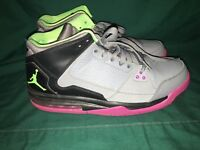 2013 Nike Air Jordan Origin Size 9.5 - Black Grey Purple Green - 599593 090