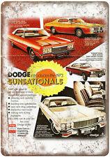"1973 Dodge Charger Dodge Dart Vintage Ad 10"" x 7"" Reproduction Metal Sign"