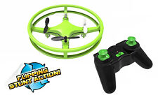 Mindscope Sky Lighter Disc Drone Green LED Light Up Stunt Action Radio Control