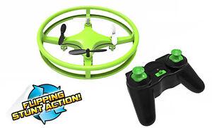 Mindscope Sky Lighter Disc Drone Green LED Light Up Stunt Action Radio Control