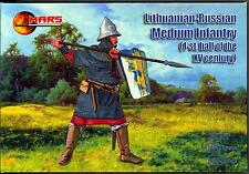Mars Figures 1/72 LITHUANIAN-RUSSIAN MEDIUM INFANTRY 15th Century Figure Set