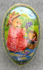 Vintage Easter Egg (3x2.5) S. Wheeler BABY BUNNY SURPRISE! Holly Pond Hill MINT
