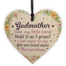 Godmother Gifts Best Friend Wooden Heart Plaque Thank You Friendship Keepsake