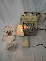 Works! Bernina Bernette 234 Overlock Sewing Machine Serger & Attachments MO-234