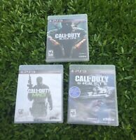 Lot Of 3 PS3 Call Of Duty Games Black OPS, Ghosts & Modern Warfare 3