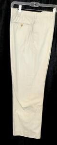 cesare attolini Pants Bone Chambery Cotton Cuff Hem Zip Up Size 34×30