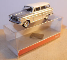 MICRO HERPA HO 1/87 BORGWARD ISABELLA GRIS ARGENT TOIT BLANC IN BOX