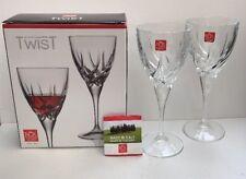 RCR Cristalleria Italiana Da Vinci Collection Twist Set Of 2 Red Wine Glasses