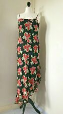 Debut Long Asymmetric Floral Pull On Strappy Dress Size 16 New Without Tags