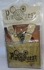 DISNEY OFFICIAL PIN TRADING QUEST LANYARD & MEDALLION SET RARE NEW IN PACKAGE
