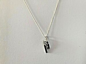 Vintage Silver necklace hallmarked sterling 925 with three clear stone pendant