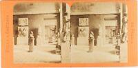 FRANCE Paris Le Louvre Salle de Jean Douay Photo Stereo Vintage Albumine ca 1870