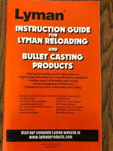 Lyman Reloading And Cast Bullet Guide, Product Instructional Manual, Diagrams