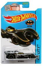 2015 Hot Wheels #62 HW City Batman Batmobile dark chrome on scan card